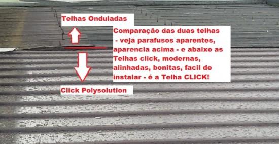 Comparação das telhas de Policarbonato click(NOVAS e Modernas) com telhas onduladas em Fibrocimento - diferença qualidade