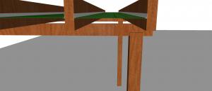 Perfil F em Policarbonato no pergolado de madeira inclinação interna Polysolution