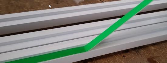 fixação do perfil de aluminio nas chapas de Policarbonato com Fita adesiva VHB