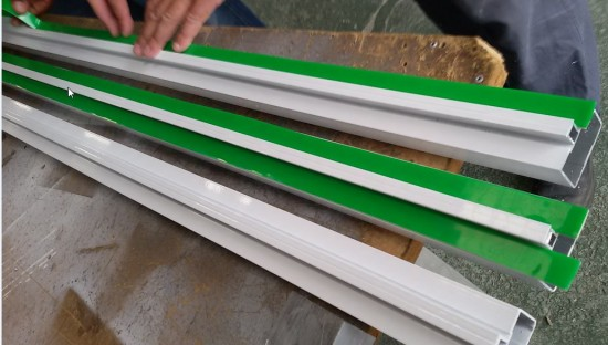 perfil estrutural aluminio pintura epóxi