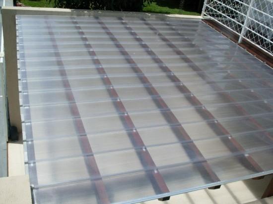 Telhas de Policarbonato click cristal madeira - Mafra S.C.Polysolution