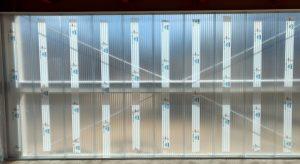 parede de 40mm alveolar cristal eem concessionária de automoveis