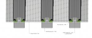 perfil Estrutural PC 5512 montagem sequencial Policarbonato Alveolar 6mm - Polysolution