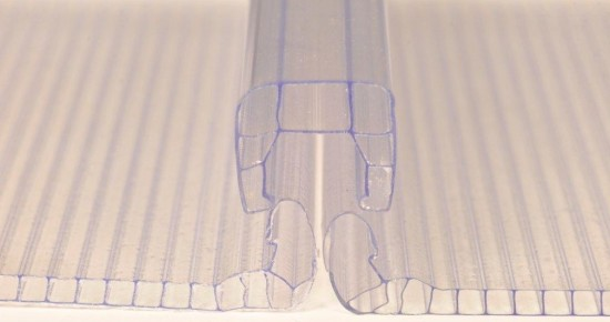 perfil conector policarbonato polysolution
