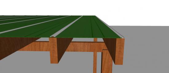 pergolado de madeira coberto com policarbonato com trapezio