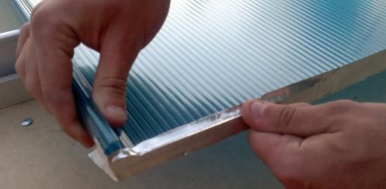 Preparando placas vedando com fita de Aluminio