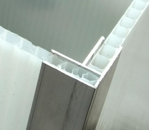 Perfil u de canto em aluminio diy para chapa de - Perfil de aluminio en u ...
