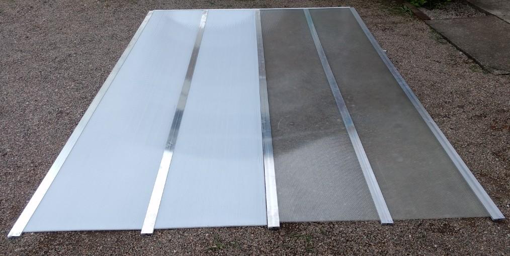Perfil U de canto e Perfil H em Aluminio DIY para chapa de Policarbonato alveolar 6mm - Polysolution