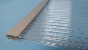 Perfil de aluminio U de 6mm e 10 mm x 6000 mm fechamento alveolos Polysolution