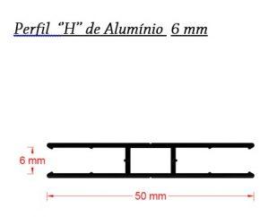Perfis de Aluminio H 6 mm para Policarbonato - Polysolution