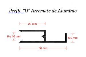Perfis de Aluminio formato F de 6 e 10 mm para Policarbonato - Polysolution