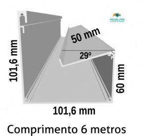 Perfis de Aluminio Viga-Calha PC 4411 Estrutural para Policarbonato - Polysolution