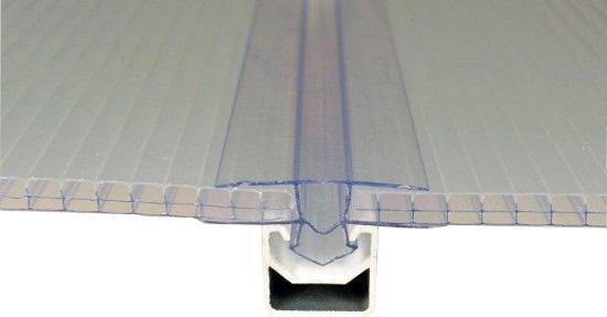 perfil uniao policarbonato Polysolution