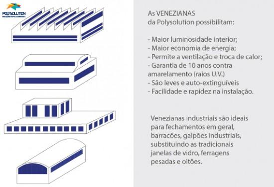 venezianas industriais em policarbonato - aplicações