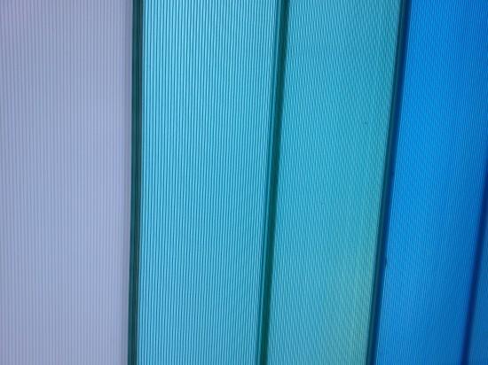 Cores das telhas de Policarbonato click Polysolution - verde ao meio