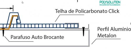 Perfil Arremate em Aluminio - Polysolution
