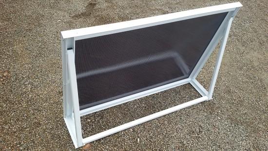 Chapa de Policarbonato Alveolar Fumê Refletivo - Perfis de aluminio pintura epóxi branco