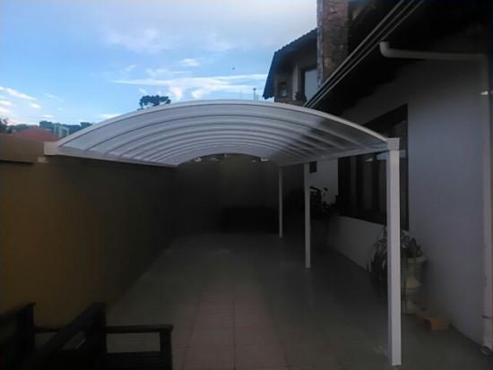 Informe nos qual a medida de sua cobertura de Policarbonato - o vão onde será instalada a cobertura, o telhado de policarbonato A=..... B= .......