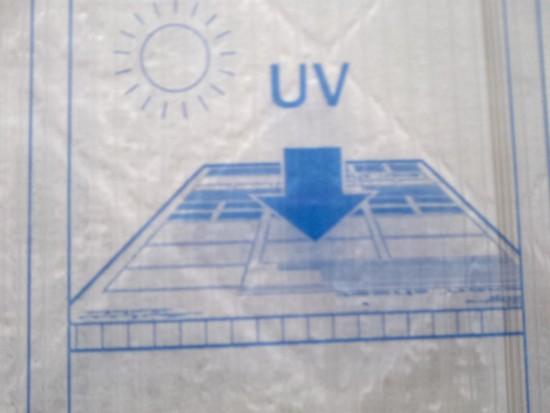 Face externa proteção UV para cima alveolar 10 mm