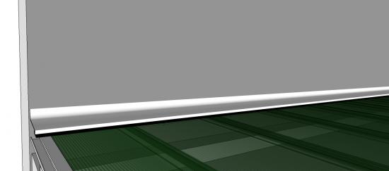 Abrigo de carro para dois veiculos com as Telhas de Policarbonato click cor fumê 6 x 5 metros reta estrutura de metalon - ferro - com treliças de 6 metros