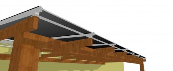 Como Resolver com Policarbonato a Inclinação Zero do Pergolado de Madeira e Concreto