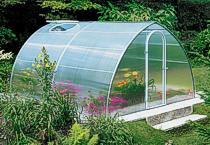 cobertura curvada a frio Estufa agricultura e estufa de flores com cobertura de Telhas de Policarbonato click cor cristal e chapa alveolar cristal de 6mm ou 10 mm