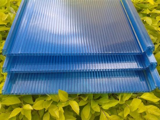 Telhas de Policarbonato Click cor azul Translucida Polysolution
