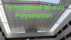 Detalhes de fixação e instalação das Placas de Policarbonato Termo acustico translucido Termopainel 30 mm - POlysolution