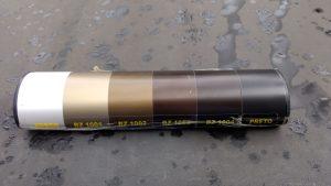 cores de pintura Anodizada para Perfis de Aluminio Polysolution