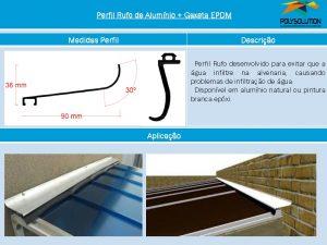 Linha de perfis para Instalação Policarbonato Perfil Rufo 90x20 mm -Polysolution