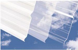 Telha Trapezoidal translucida em Policarbonato compacto cristal e branco leitoso Polysolution