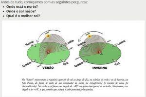 posição do sol face norte e face sul - onde há ensolação orientação tecnica Polysolution