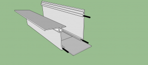 Como emendar um perfil de aluminio VIga-CAlha PC4412 de topo e manter a vedação - POlysolution