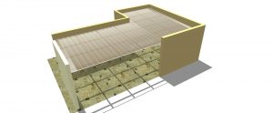 abrigo de carro cobertura em L telha click Infra Red Heat bloc ouro Polysolution
