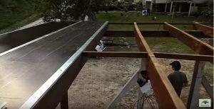 Pergolado de madeira com união de policarbonato com PERFIL H em aluminio 6 e 10 mm é na Polysolution