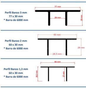 Toldo de Policarbonato com os perfis de aluminio Banzo 60 mmPolysolution