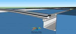 Cobertura de Policarbonato com Perfis de aluminio PC 4412 Polysolution