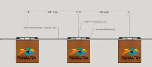 Perfil de aluminio H de 4mmx 6000 mm para pergolado de madeira POlysolution