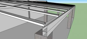 Cobertura de Policarbonato com Perfis de Aluminio estrutural Auto-portante Polysolution