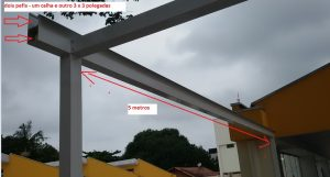 Como fixar um perfil viga-calha PC 4412 com vão de 6 metros + PErfil Alu 76,2 mm