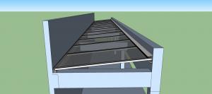 pergolado de concreto coberto com policarbonato caimento zero - Polysolution
