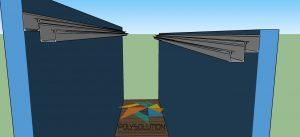 cobertura Retratil telescopica viga calha PC-4412 Polysolution