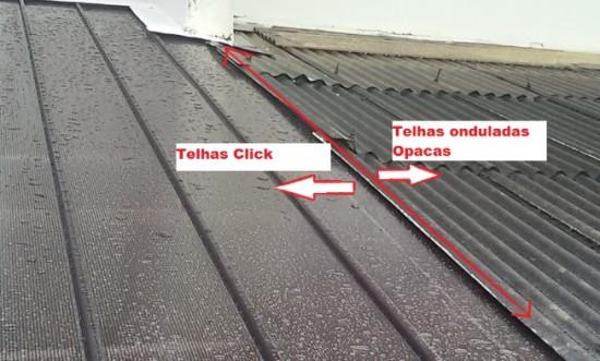 Comparação das telhas de Policarbonato click(NOVAS e Modernas) com telhas onduladas em Fibrocimento compare
