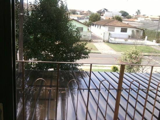 Garagem com telhas click - vista de cima