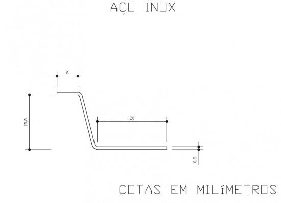 Medidas da Garra Inox telha click Polysolution