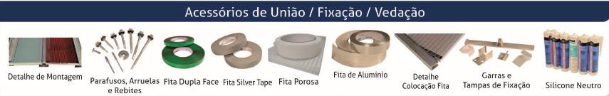 Perfis e acessórios de fixação e vedação para policarbonato
