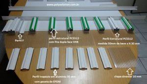 Sistema modular Polysolution de instalação de Policarbonato - DIY - Faça voce mesmo