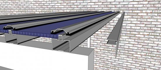 sistema Polysolution Instalação Policarbonato perfil estrutural 5512 + Trapezio