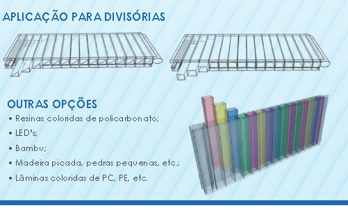 Paredes e divisórias de Policarbonato 40 mm wall 40 - Polysolution