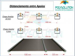 tabela de espaçamento de vão livre alveolar 6 e 10 mm Polysolution